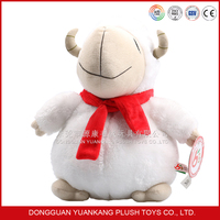 Wholesale custom mini fat sheep plush toy with Scarf