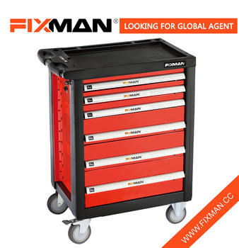 FIXMAN Hand Tool Trolley Set , 6 Drawer Roller Tool Cabinet Set
