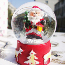 Promotional Christmas Glass Ball Resin and souvenir Snow Water Globe