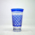 2018 Popular 350ml Wholesale Blue Colored Engraved Glass Tumbler Tea Cup