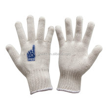 7 gauge 10 gauge safety cotton knitted gloves white cotton hand gloves cotton gloves for industrial use with top quality