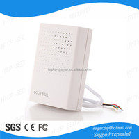 white DC 12V Wired Door Bell Chime For Home or Office Access Control System