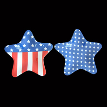 Unique Star Shape Flag Pattern Melamine Plastic Plate