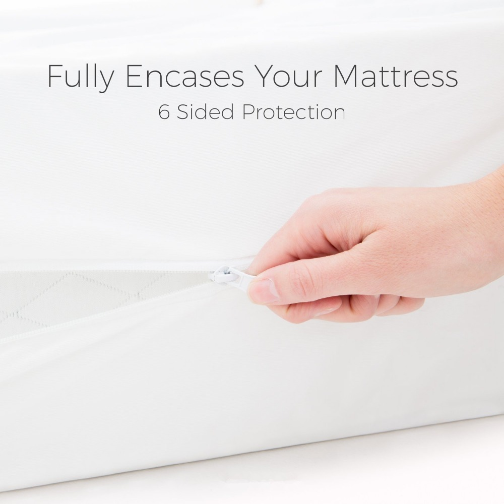 100% polyester bed bug proof Mattress Encasement with zipper - Jozy Mattress | Jozy.net