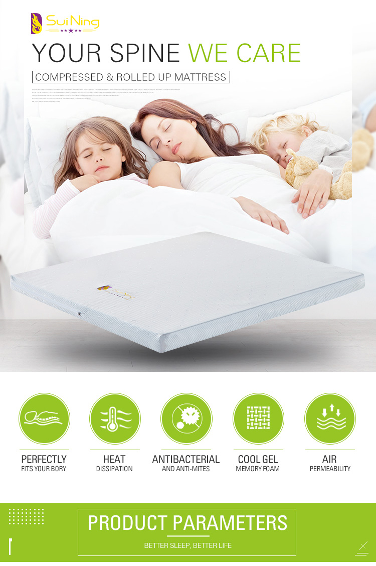 Ultrathin gel memory foam knitted fabric mattress topper A-1040