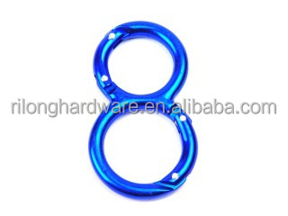 Number 8 aluminum snap hook/key chains