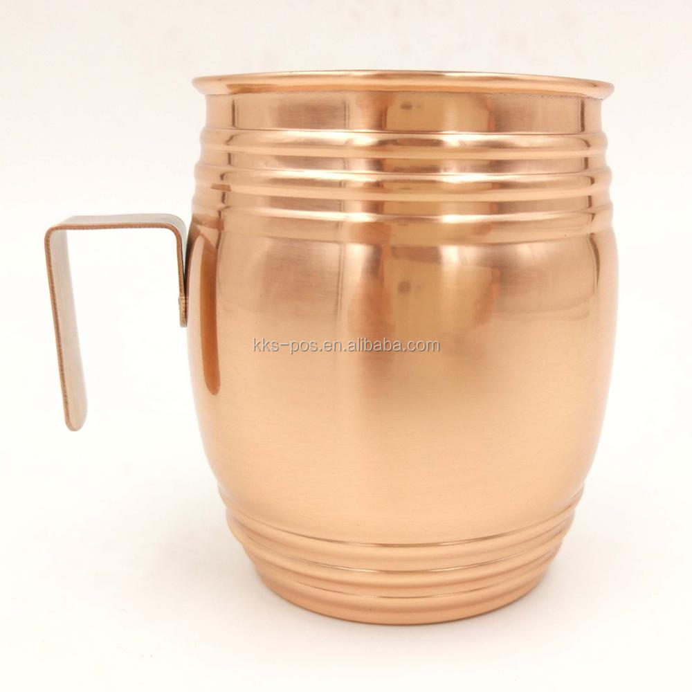 Big Size Stainless Steel Barrel Shape Cup With Handle