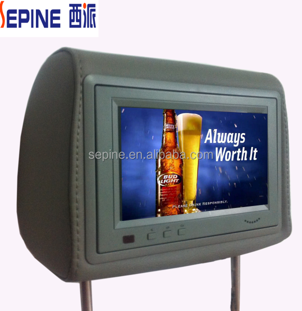 9 taxi advertising player ,car backseat lcd tv screen with usb