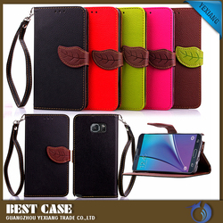 Leaves insert leather wallet stand case flip cover case for samsung galaxy s3 s4 s5 a8 note 3 note 4 s6