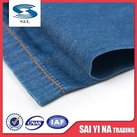 Poor wash 100%cotton twill denim fabric manufacturer for lady jeans