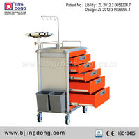 ABS Hospital Utility Emergency Medical Crash Trolley/Cart