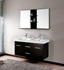 Classic Wall Mount Black Granite Sink Bathroom Vanity Cabinet