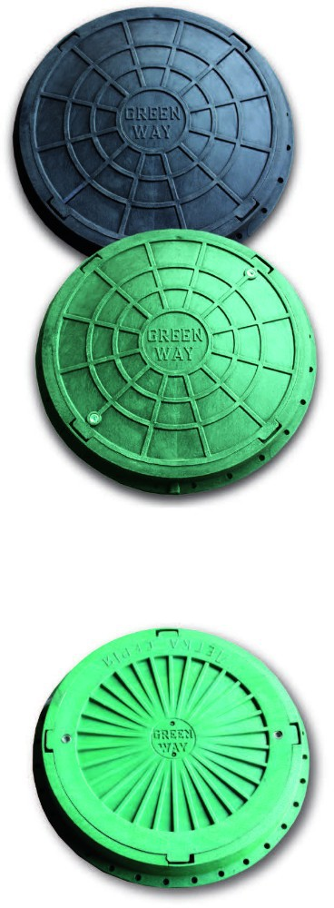 Polymeric manhole covers
