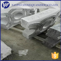 Landscape architecture fence shape Type slabs thickness heavy plate granite packing of GREY SESAME Granite Type OF G603# price
