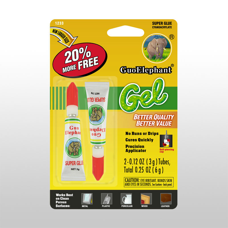 Guo elephant Quick bond strong super glue new fast 4g super glue in aluminium tube