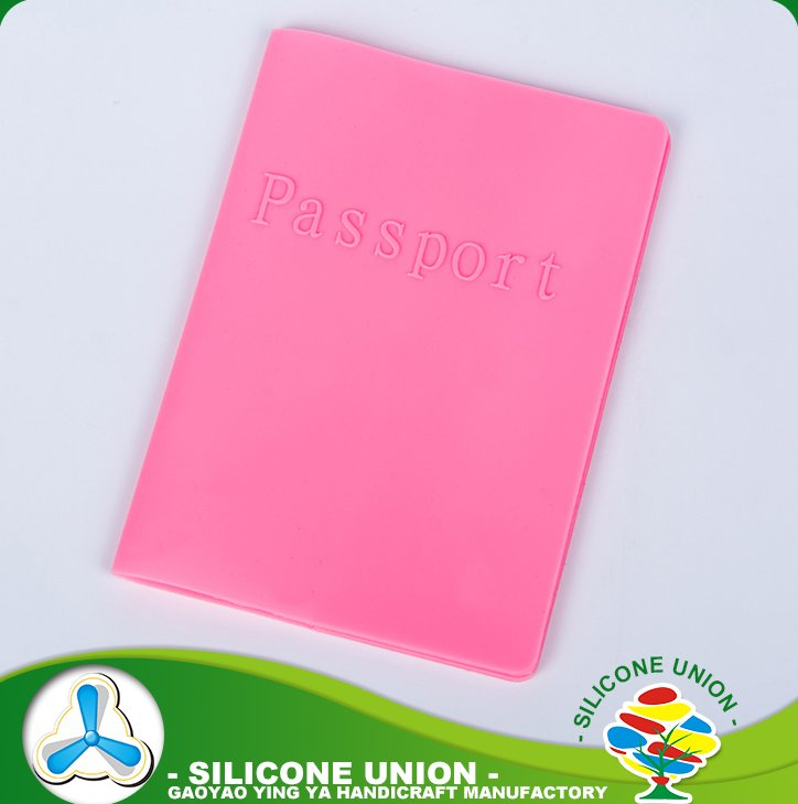 Fashion waterproof travel silicone card holder passport cover