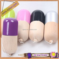 factory direct colored wooden children's toy kendama pill