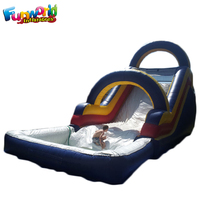 Inflatable pool with slide inflatable slip and slide for sale