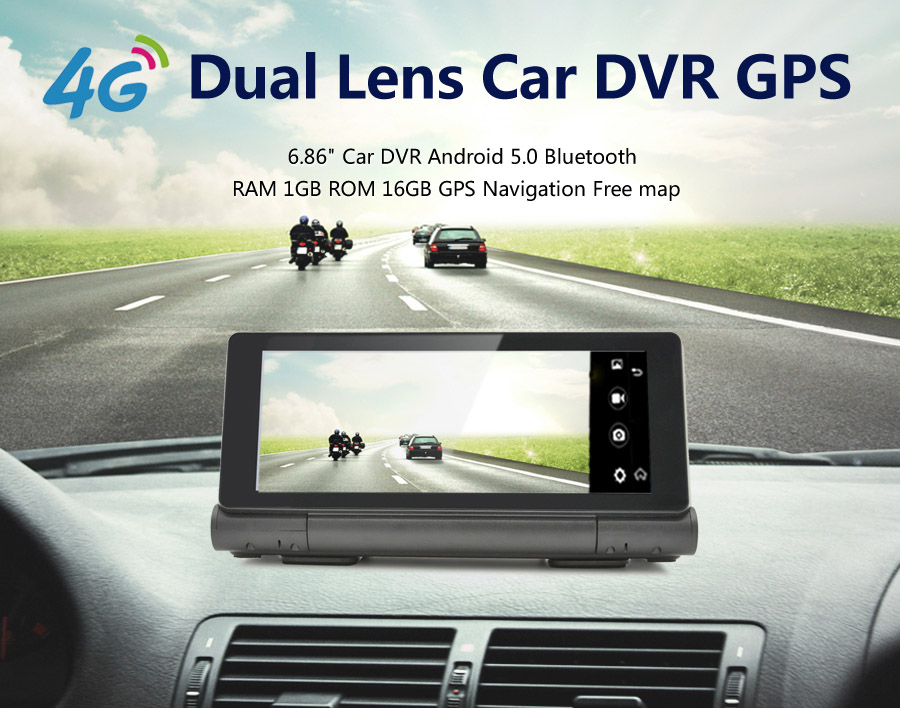 7 Inch Car DVR Camer GPS Navigation Android Quad-Core 3g/4g /WIFI/FM Tablet PC Truck Vehicle Auto GPS Navigator with free Maps