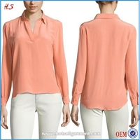 Fashion Designs Silk Plain Blouse for Middle Aged Women