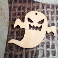 2015Teda handmade Wooden Halloween DECORATION Cutouts hanging