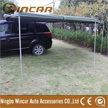 New Retractable Polygon Awning Canvas Tent Trailer Awning Waterproof with Rectangle Triangle