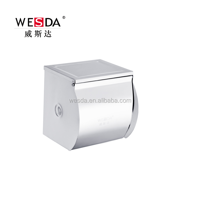 Wesda Wall mount toilet accessories Stainless steel paper towel holder for small tissue