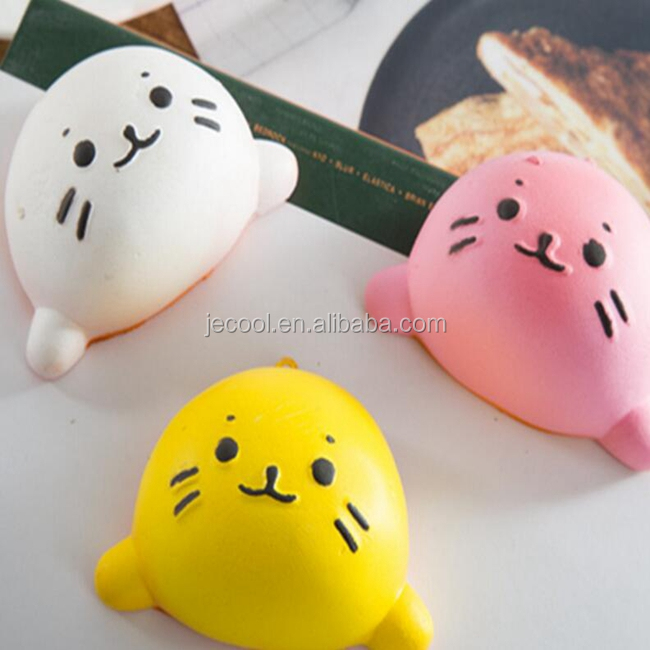 Squishy Little water cat Slow Rising Jumbo Cute Straps s Sweet Cream Charms