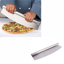 "Knife Kitchen Cooking Baking Tools 14"" Professional Bakeware Stainless Steel Pizza Rocker"