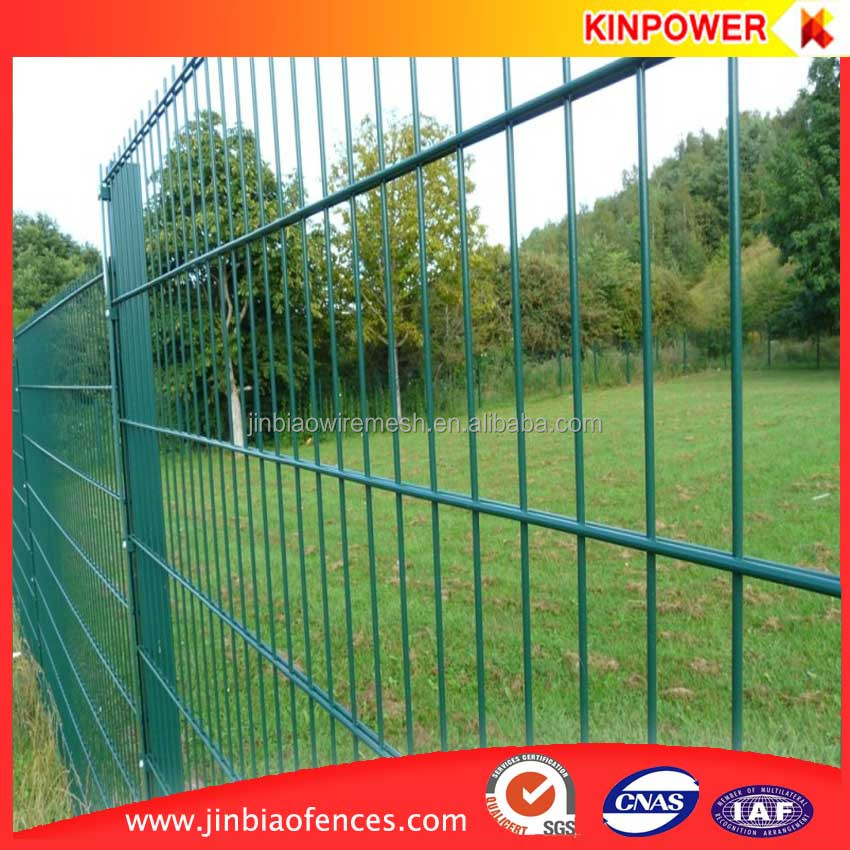 green vinyl coated welded wire mesh fence panels in 6 gauge