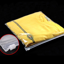 Cheap Clear Plastic Clothes Packaging Bag With Slider Zipper