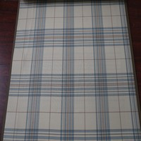 Luxury modern bedroom checked yarn dyed cotton curtain fabric for drapery panel