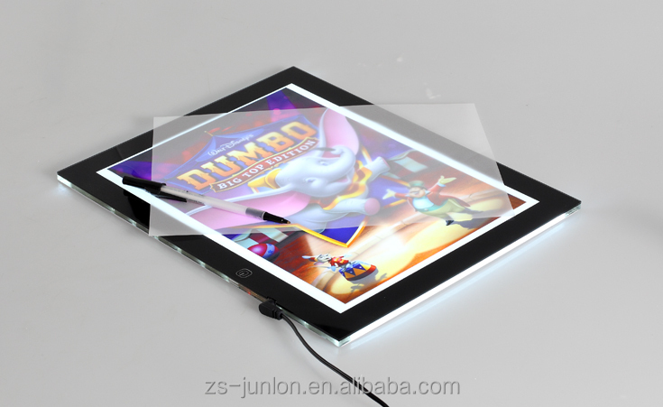 New led trace light pad box,led writting board,led drawing board as child toy with best price