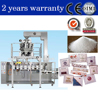 Small Sachet Automatic Granule Sugar Packing Machine with computer multihead weigher