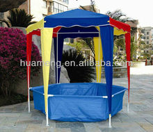 Easy set-up Colorful Kids Gazebos with swimming pool