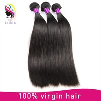 Raw unprocessed virgin indian straight 6 inch hair weaving