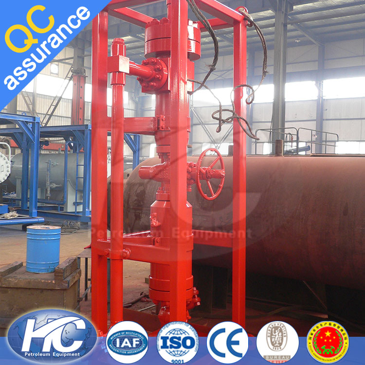 Wellhead petroleum production cyclone desander / hydrocyclone desander / static cyclone separator