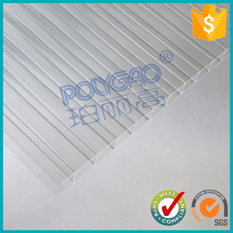 6mm multi wall polycarbonate sheet,transparent pc hollow sheet,polycarbonate roofing kits