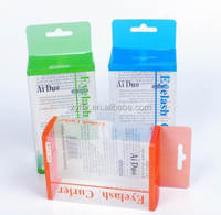 Custom transparent pet plastic display packaging boxes