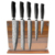 New best quality 5pcs professional stainless steel damascus knife set with black Pakka wood handle
