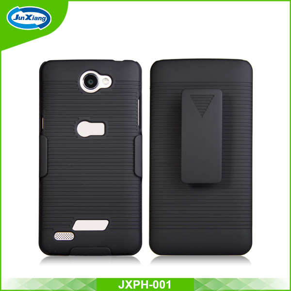 Competitive factory shockproof custom mobile phone shell holster case for LG X165G/Bello 2