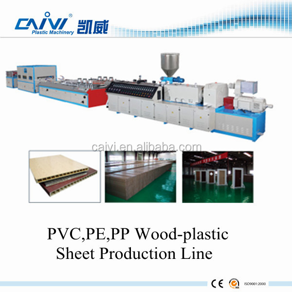 PVC Board Extrusion Line / WPC PE PP Wood Plastic Sheet Extruding Machine production Manufacturer