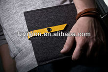 dark grey with press stud color made of 100% eco-friend polyester felt case for ipad