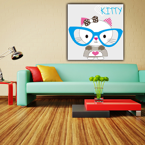 Home goods little cat wall art kids dry erase canvas boards painting