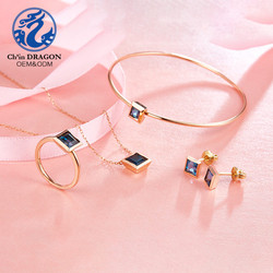 Sapphire dubai wedding gold jewelry sets+gold jewelry sets women