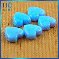 HQ OP06 Blue heart shaped ethiopian opal price for necklace