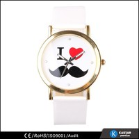 featurely watch strap leather, lady fashion watch