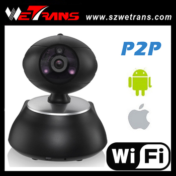 Wetrans Hot sale!!! 2016 Newest 1280*720P IR Pan & Tilt HD Wireless P2P CCTV IP Camera