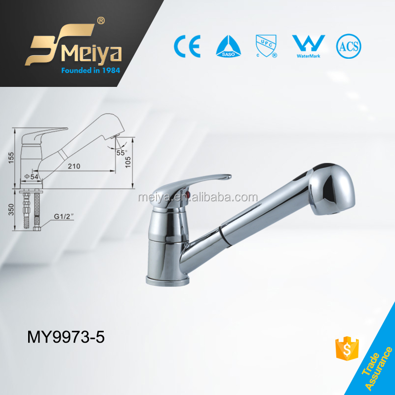 Brass Single Handle Pull out Spray Kitchen Faucet, Sink Mixer, Made in Faucet Factory of China