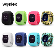 Wonlex kids gps tracker watch coin size gps tracking device with sim card baby watch